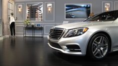The 2014 Mercedes-Benz S-Class strikes a pose at Mercedes-Benz Fashion Week