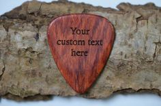 Custom Engraved Guitar Pick / Plectrum. Cocobolo by CarveCode