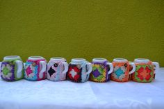 mates con funda tejida al crochet https://www.facebook.com/objetosconhilos