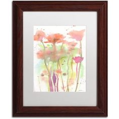 Trademark Fine Art Red Poppy Impressions Canvas Art by Sheila Golden White Matte, Wood Frame, Size: 16 x 20, Multicolor