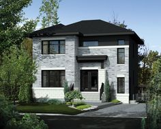 Contemporary Style House Plan - 3 Beds 1 Baths 1552 Sq/Ft Plan #25-4278: