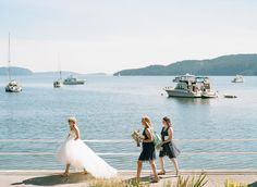 seaside bride  maids // #hasselblad #kodak #portra160 #film #catherineabeggphotography