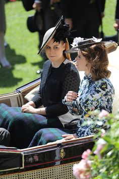 Both of Prince Andrew's daughters wore millinery from Edinburgh based milliner Sally Ann P...