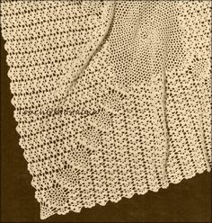 INSTANT DOWNLOAD  This is for the PDF Version of the Vintage Pattern REPRODUCTION:  (NOT Original and Not Finished Item)    BEAUTIFUL LACE BABY