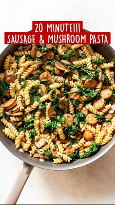 Healthy Pasta Dishes, Healthy Pasta Salad, Yummy Pasta Recipes, Healthy Pastas, Pasta Salad Recipes, Real Food Recipes, Dinner Recipes, Cooking Recipes, Healthy Recipes