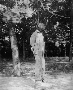 An African-American man killed by hanging in a lynching, 1925. Source: Library of Congress