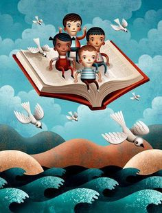 Leggere è un po' come volare.