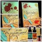 Mixedia Media Card with Lindy's Stamp Gang Created by Sharon Martinelli
