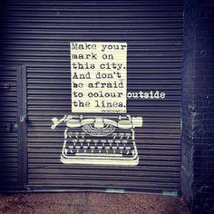 "K Y-A on Instagram: ""Art by Wrdsmth 🎨 🚨 🚨 🚨  #StreetArt #Graffiti #Wrdsmth #ClareStreet #BethnalGreen #London #GalaxyS6Edge #tv_streetart #rsa_graffiti…"""