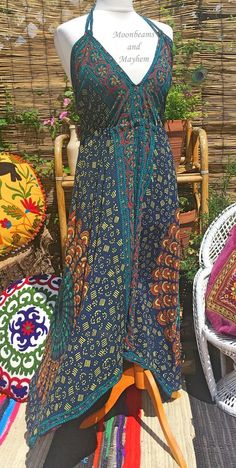 like the idea of a mixture of patterns for miranda - giving hand made look. floaty and alluring yet not too feminine in terms of colour