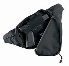 Our Escort is constructed of 430 Denier water-resistant rip-stop pack cloth. Dual front-opening zipper pulls allow for fast and quiet draw. The unique built-in neoprene holster and spare magazine slot (on large size only) conform to the handgun and magazine, providing excellent security.