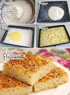 whats good to eat: Pratik Puf Çörek Tarifi Delicious Cake Recipes, Yummy Cakes, Yummy Food, Cheesecake Brownie, Cheesecake Recipes, Tea Time Snacks, Donut Recipes, Muffin Recipes, Recipes With Marshmallows