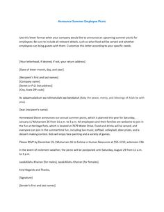 Job announcement letter - New job announcement email and letter ...