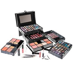 SHANY All In One Makeup Kit (Eyeshadow, Blushes, Powder, Lipstick & More) Holiday Exclusive - Les sourcils Powder Lipstick, Makeup Starter Kit, Lip Gloss Tubes, Cosmetic Kit, Makeup Brush Set, Makeup Sets, Makeup Palette, Eyeshadow Palette, Eye Palette