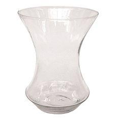 10 in. x 7.75 in. Clear Glass Urn