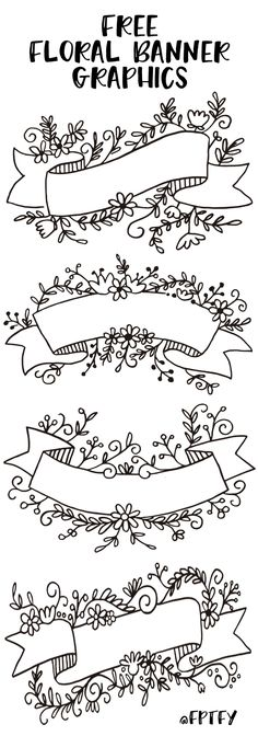 FREE printable floral banner graphics