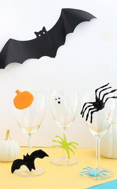 Halloween Drink Markers with Americana Multi-Surface Satin & Hot Glue!