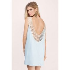 Crochet Backless Dress I absolutely love this dress, but unfortunately it doesn't fit me right. Light blue color... It's brand new! Dresses Backless