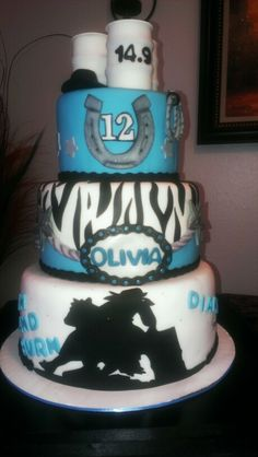 Barrel Racing girl birthday cake