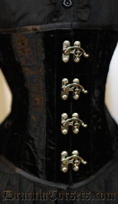 Velvet Clasp Corset #corset #underbust #velvet #goth #gothic http://draculaclothing.com/index.php/velvet-clasp-corset.html