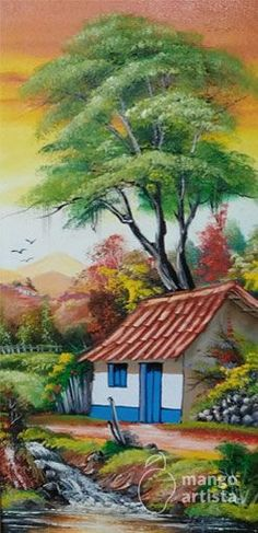 Visual result related to vermelhas flowers painting - Beautiful Nature Wallpaper, Beautiful Paintings, Beautiful Landscapes, Couple Painting, American Art, Home Art, Landscape Paintings, Watercolor Paintings, Scenery