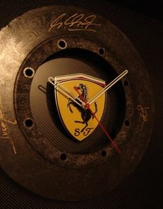 Scuderia Ferrari Authentic F1 Carbon brake clock signed by Schumacher for M's man cave