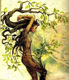 To be a Wild Woman you don't have to be aggressive or assertive. Like a tree you'll have to find your roots and then you will bend with the wind  - Shikoba. Art : Séverine Pineau