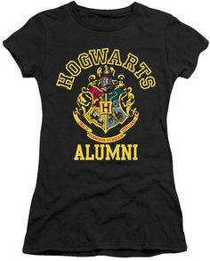 Harry Potter 'Hogwarts Alumni' Black Tee - Juniors