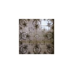 Something like this, I would have mirror lace curtains that would open, like a cabinet to expose the window.  mirror mirror : Pearl Lowe Black Lace Tablecloth Large Rectangle found on Polyvore