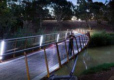 Traversina wood bridge wooden bridges pinterest for Oxigen landscape