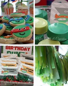 Coffee, Crafts & Cupcakes: Teenage Mutant Ninja Turtle Party
