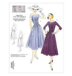 Vintage Vogue Patterns, Vogue Sewing Patterns, Mccalls Patterns, Clothes Patterns, Dress Patterns, Vintage Dresses, Vintage Outfits, Vintage Fashion, 1950s Fashion