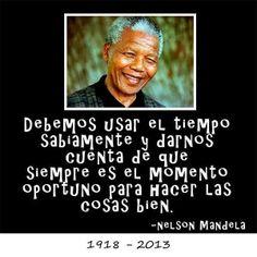 Debemos usar... cita de Nelson Mandela