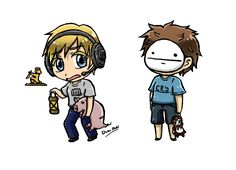 PewDie And Cry Chibies by DokuDoki.deviantart.com on @deviantART
