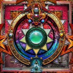 ⊰❁⊱ Mandala ⊰❁⊱  Chakra del  Corazón Mandala  por paxempire