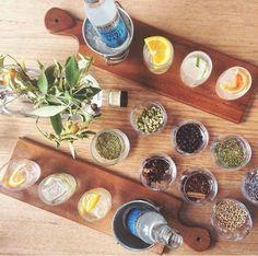 Brilliant idea. Gin&tonic tasting flight. Perfect with my beer flight boards