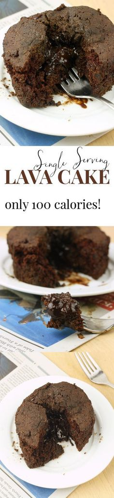 Healthy 100 Calorie - LAVA CAKE Individual servings Healthy Baking, Healthy Desserts, Just Desserts, Delicious Desserts, Healthy Breakfasts, Eating Healthy, Healthy Food, Clean Eating, Mug Recipes
