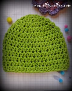 Easy Hdc Beanie All Sizes!**Love The Yarn Box!!--Uhhhhhhh but Gotta change the color!**