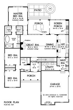 NOW AVAILABLE: Small Craftsman Ranch. The Golding Plan is a small Craftsman ranch design with open living and tons of utility space New House Plans, Dream House Plans, Small House Plans, House Floor Plans, My Dream Home, The Plan, How To Plan, Plan Plan, Craftsman Ranch