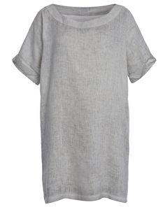 120% Lino Kleid aus Leinen - hellgrau jetzt bei sixdays.fashion kaufen / kleidoo.de