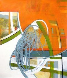 Field's Edge www.heatherbentz.com #arttomakeyouhappy Art for home, art for office by contemporary artist Heather Bentz #contemporaryart #heatherbentzart #originalart #scribble #acryliconpaper #goldenacrylic