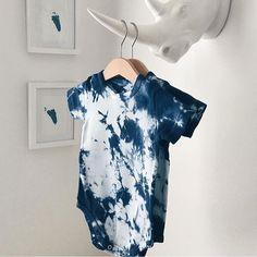 BohoSundays Tie Dye Onesie - New Indigo HAND DYED 12-18months