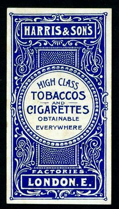 Typographic poster design for Harris & Sons UK tobaccos & cigarettes, circa 1900