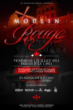 Moulin Rouge Party Invitation