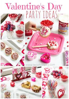 Including the cutest cinnamon rolls I've ever seen. Valentine's Day Party Ideas -Momo