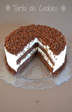 tarta-de-galletas-thermomix Delicious Desserts, Yummy Food, Mousse Cake, Bakery Recipes, Sugar Cravings, Drip Cakes, Cakes And More, Yummy Cakes, Sweet Recipes