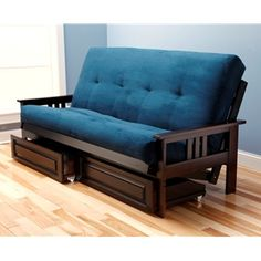 a futon frame showing off a brilliant suede navy mattress smart value and amazing - Futon Bedroom Ideas