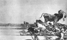 Unfortunate Events in the Front Seats of the Ring of Madrid - Francisco Goya