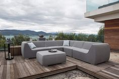Fabric Fridays!  Nadi Large Corner Group with Ottoman is taking comfort to the next level! The Nadi feels as soft as it looks and will match with our Dining Sets for the ultimate garden experience