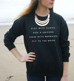 Play with Fairies Sweatshirt - Black Background